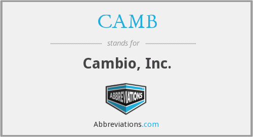 What does CAMB stand for?