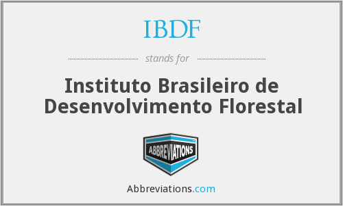 What does IBDF stand for?