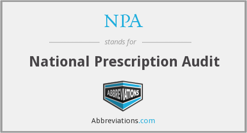 NPA - National Prescription Audit