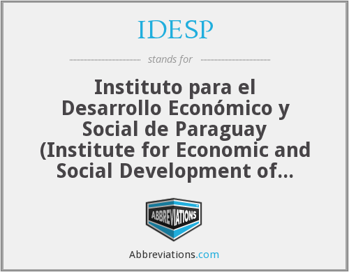 What does IDESP stand for?