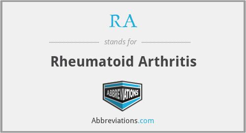 RA - Rheumatoid Arthritis