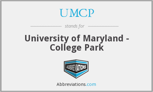 UMCP - University of Maryland - College Park