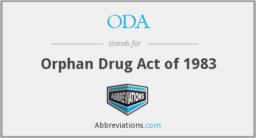 ODA - Orphan Drug Act of 1983