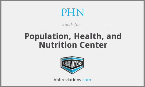 PHN - Population, Health, and Nutrition Center