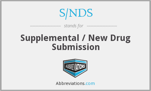 What does S/NDS stand for?