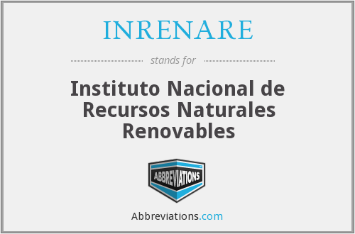 What does INRENARE stand for?