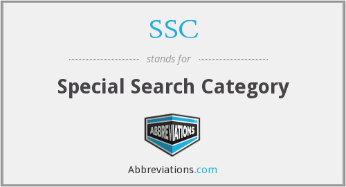 SSC - Special Search Category