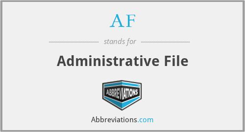 AF - Administrative File