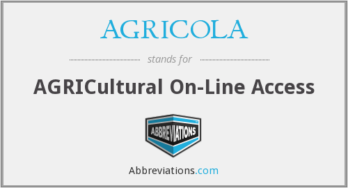 AGRICOLA - AGRICultural On-Line Access