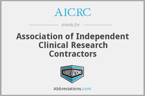 AICRC - Association of Independent Clinical Research Contractors