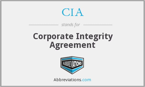 CIA - Corporate Integrity Agreement