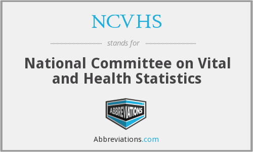 What does NCVHS stand for?