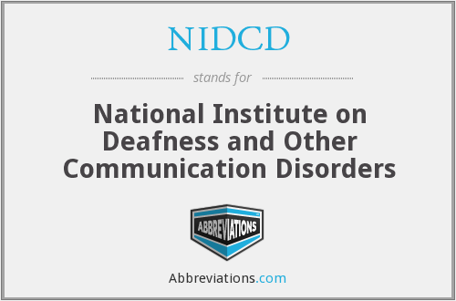 What does NIDCD stand for?