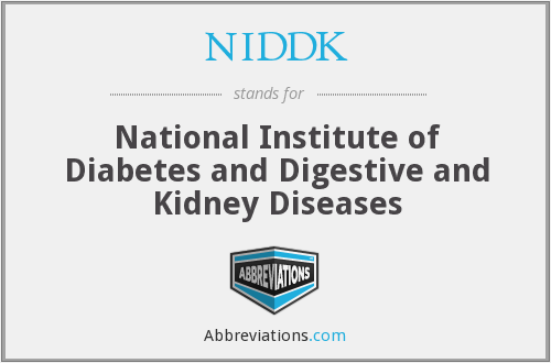 NIDDK - National Institute of Diabetes and Digestive and Kidney Diseases