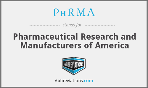 What does PHRMA stand for?