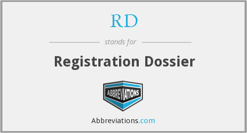 RD - Registration Dossier