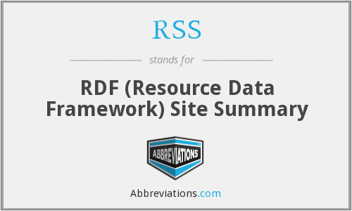 RSS - RDF (Resource Data Framework) Site Summary