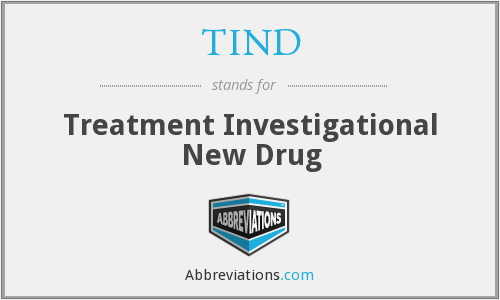 TIND - Treatment Investigational New Drug