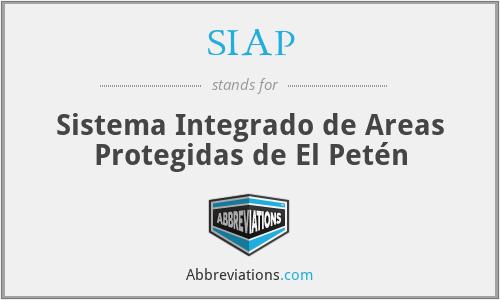 SIAP - Sistema Integrado de Areas Protegidas de El Petén