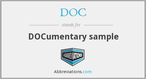 DOC - DOCumentary sample