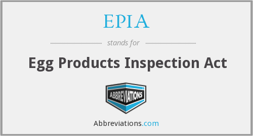 What does EPIA stand for?