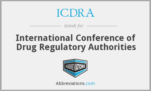 ICDRA - International Conference of Drug Regulatory Authorities