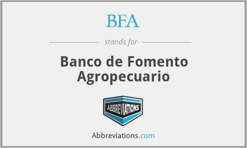 BFA - Banco de Fomento Agropecuario