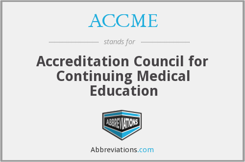 What does ACCME stand for?