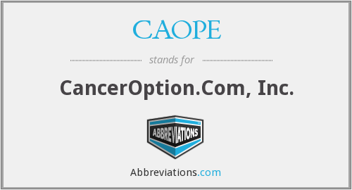 CAOPE - CancerOption.Com, Inc.