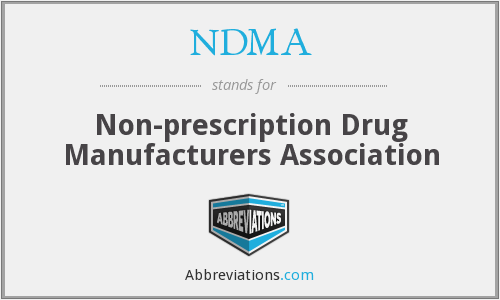 NDMA - Nonprescription Drug Manufacturers Association (now CHPA)