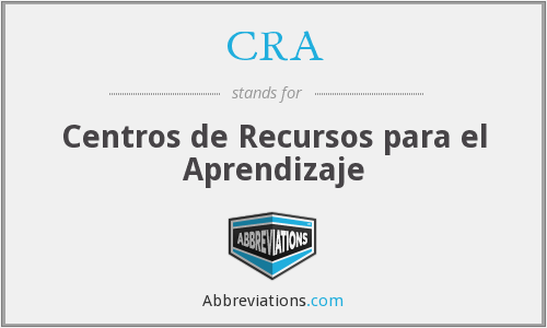 CRA - Centros de Recursos para el Aprendizaje