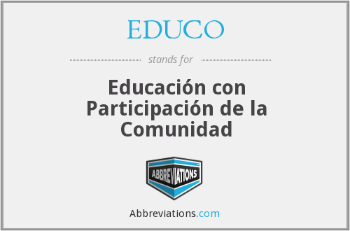 What does EDUCO stand for?
