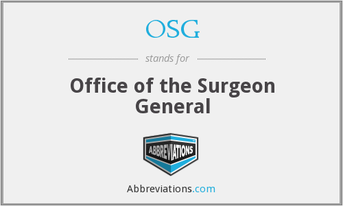 OSG - Office of the Surgeon General