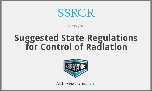 What does SSRCR stand for?