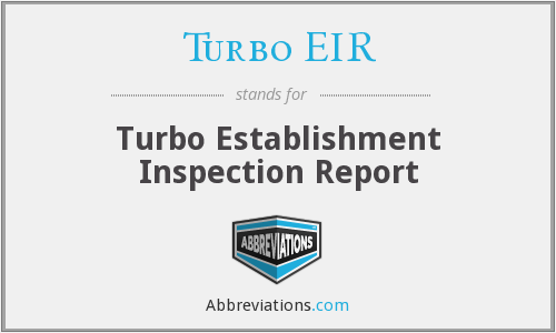 What does TURBO EIR stand for?