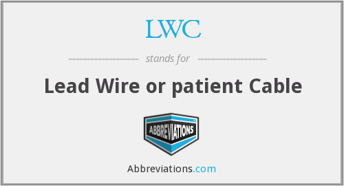 LWC - Lead Wire or patient Cable