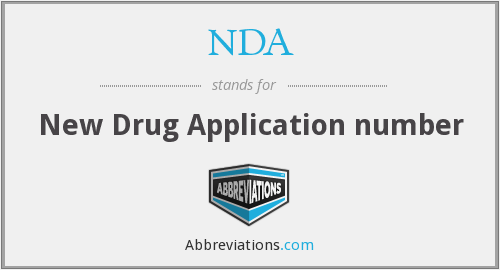 NDA - New Drug Application number