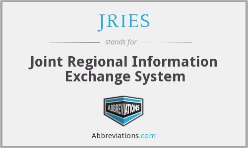 JRIES - Joint Regional Information Exchange System