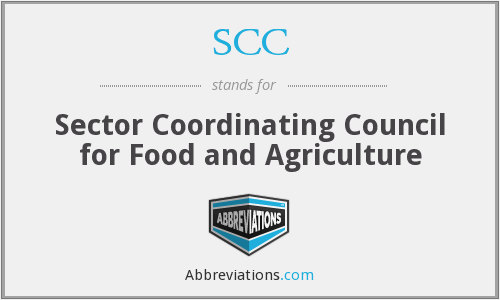 SCC - Sector Coordinating Council for Food and Agriculture