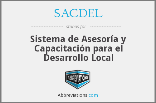What does SACDEL stand for?