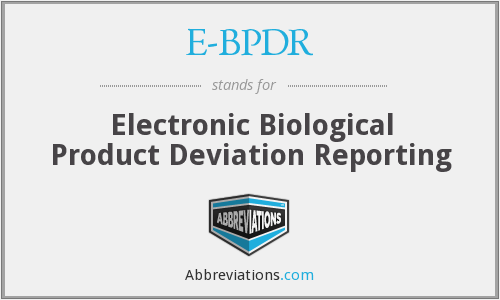 What does EBPDR stand for?