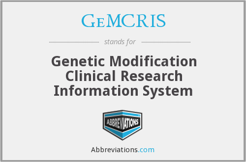 GeMCRIS - Genetic Modification Clinical Research Information System (NIH)