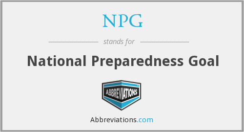 NPG - National Preparedness Goal