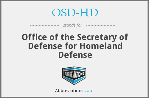 What does OSD-HD stand for?