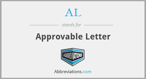 AL - Approvable Letter