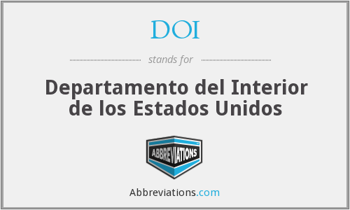 DOI - Departamento del Interior de los Estados Unidos