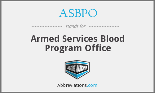 ASBPO - Armed Services Blood Program Office