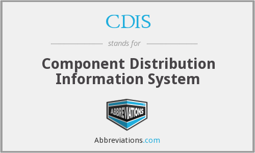 CDIS - Component Distribution Information System