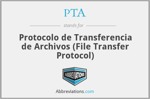 PTA - Protocolo de Transferencia de Archivos (File Transfer Protocol)