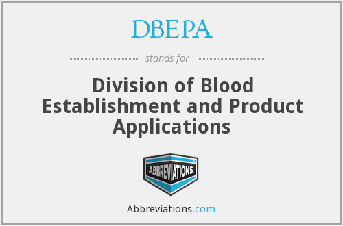 What does DBEPA (CBER) stand for?